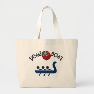 Dragon Boat Fully Customizable Design Large Tote Bag