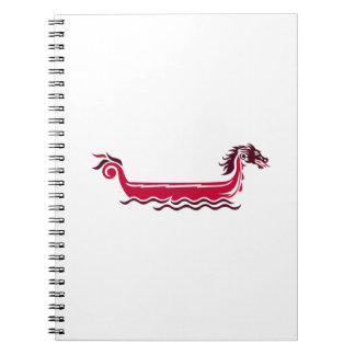 Dragon boat spiral notebook