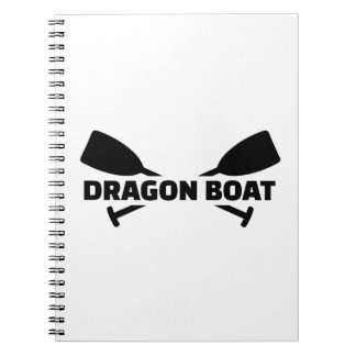 Dragon boat paddles spiral note book