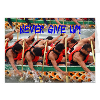 Dragon Boat Race Rowers Show Perseverance Greeting Card