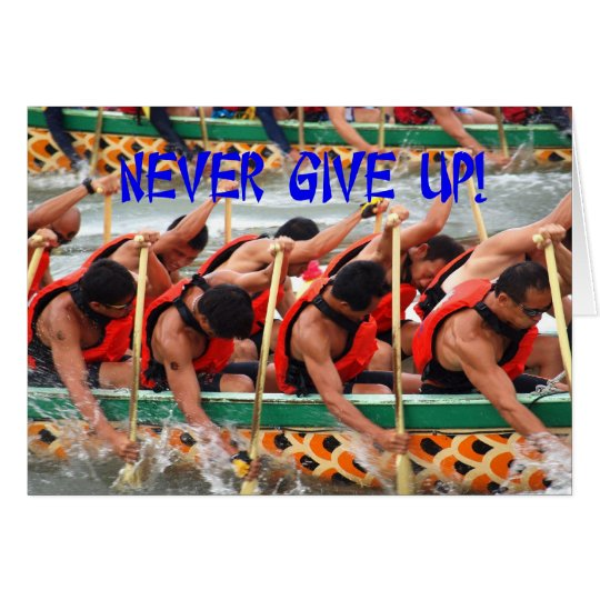 Dragon Boat Race Rowers Show Perseverance Card