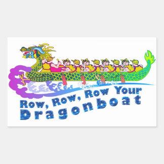 Dragon boat race sticker