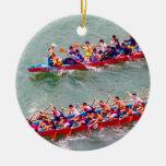 Dragon Boats Ceramic Ornament