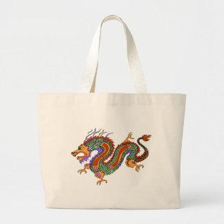 dragón bolsa tela grande