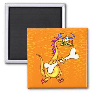 Dragon Bones 2 Inch Square Magnet