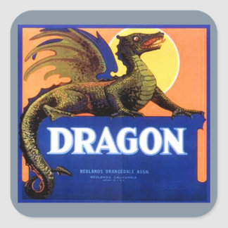 Dragon Brand Fruit Crate Label