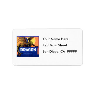Dragon Brand Fruit Crate Label