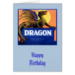 Dragon Brand Fruit Crate Label Card