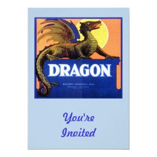 "Dragon Brand Fruit Crate Label 5"" X 7"" Invitation Card"