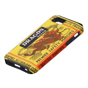 Dragon Brand Vintage Safety Match Label iPhone SE/5/5s Case