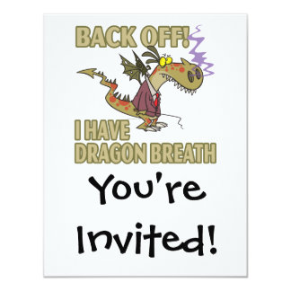 dragon breath stay away funny cartoon custom announcements
