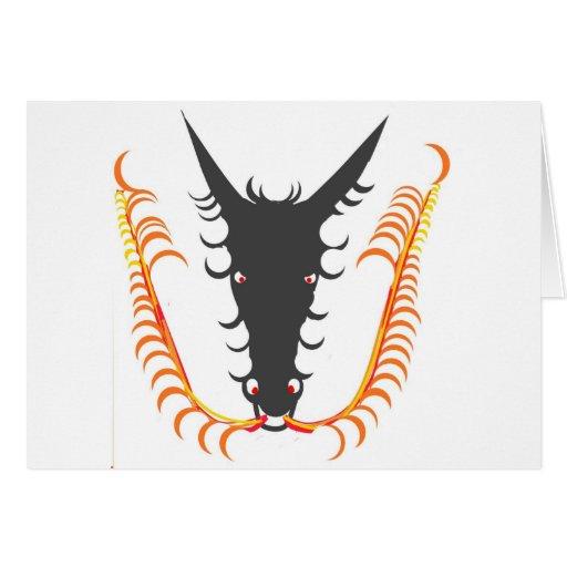 Dragon Breathing Fire Greeting Card