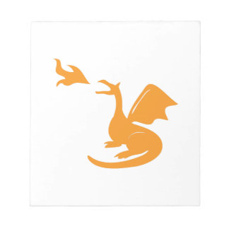 Dragon Breathing Fire Memo Pad