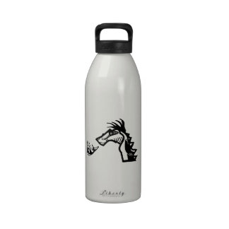 Dragon Breathing Fire Reusable Water Bottle