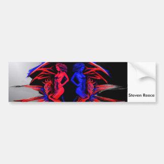 Dragon Bumper sticker by Steven Reece Car Bumper Sticker