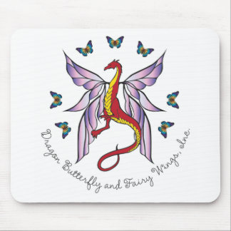 Dragon, Butterfly and Fairy Wings, Inc. Mousepad. Mouse Pad