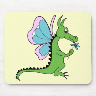 Dragon Butterfly Mouse Pad