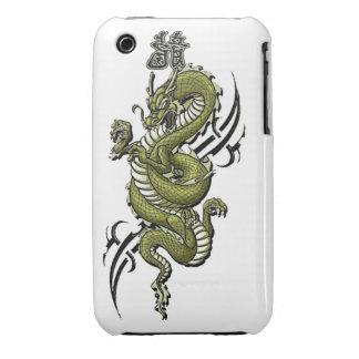 Dragón - caja verde del compañero del caso Case-Mate iPhone 3 coberturas