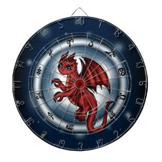 Dragon Cancer Zodiac Dartboard With Darts