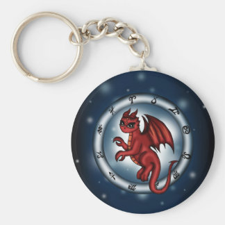 Dragon Cancer Zodiac Keychains