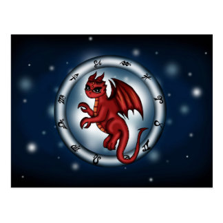 Dragon Cancer Zodiac Postcard