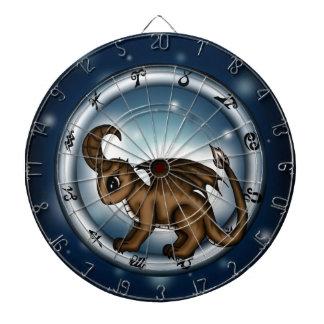 Dragon Capricorn Zodiac Dartboard With Darts