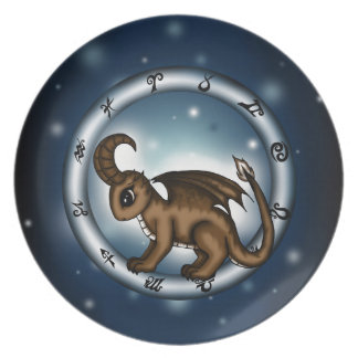 Dragon Capricorn Zodiac Dinner Plates