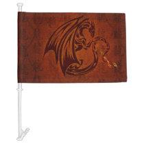 Dragon Car Flag