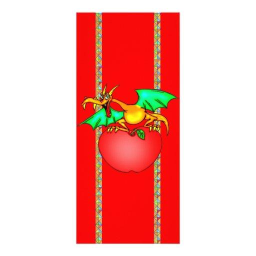 Dragón cariñoso de Apple Plantilla De Lona