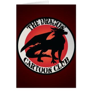 Dragon Cartoon Club Badge Greeting Card