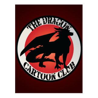 Dragon Cartoon Club Badge Postcard