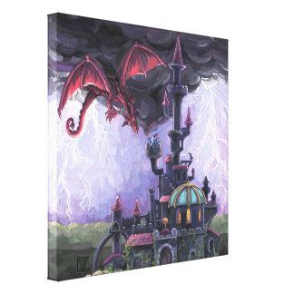 Dragon Castle Stretched Canvas Print