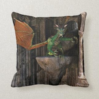 Dragon & Castle Fantasy Artwork Pillows