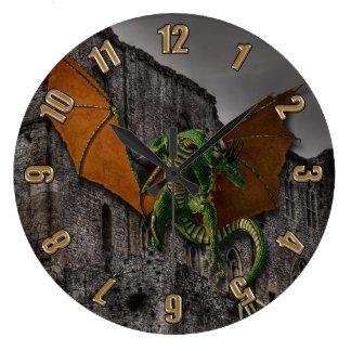 Dragon & Castle Fantasy Artwork Wall Clocks