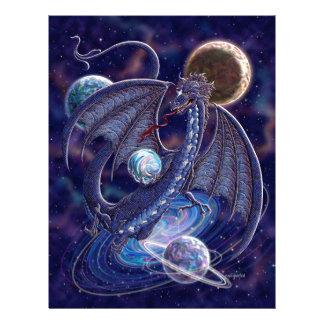 Dragón celestial membrete a diseño