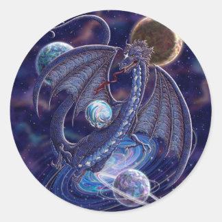 Dragón celestial pegatina redonda