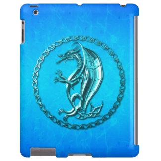 Dragón céltico azul