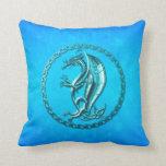 Dragón céltico azul cojines