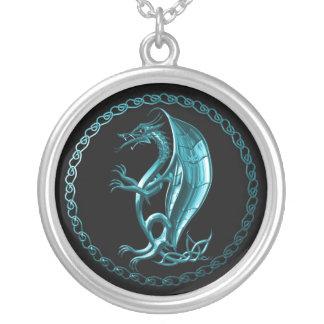 Dragón céltico azul grímpola
