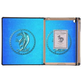 Dragón céltico azul iPad cobertura