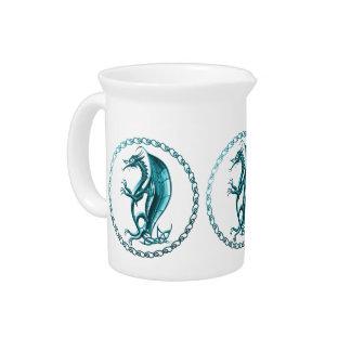 Dragón céltico azul jarron