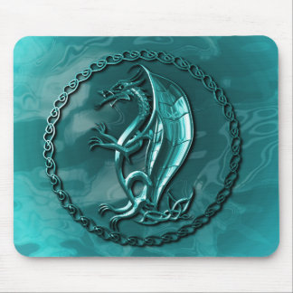 Dragón céltico azul Mousepad Alfombrilla De Ratón