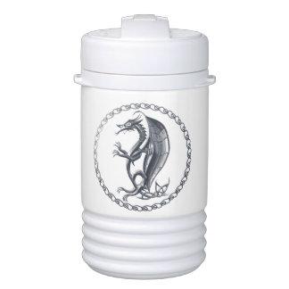 Dragón céltico de plata enfriador de bebida igloo