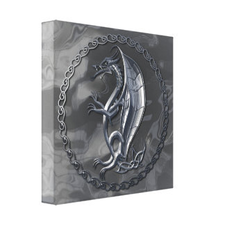 Dragón céltico de plata lona envuelta para galerias