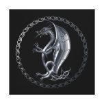 Dragón céltico de plata lienzo envuelto para galerías