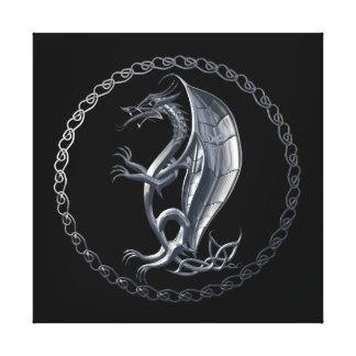 Dragón céltico de plata lona estirada galerias