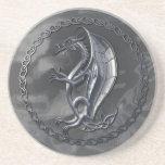 Dragón céltico de plata posavasos personalizados