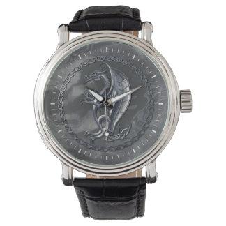 Dragón céltico de plata relojes de pulsera