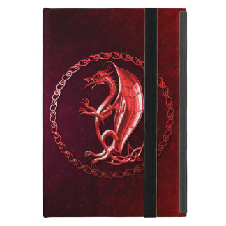 Dragón céltico rojo iPad mini cárcasas