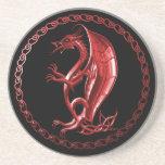 Dragón céltico rojo posavasos manualidades